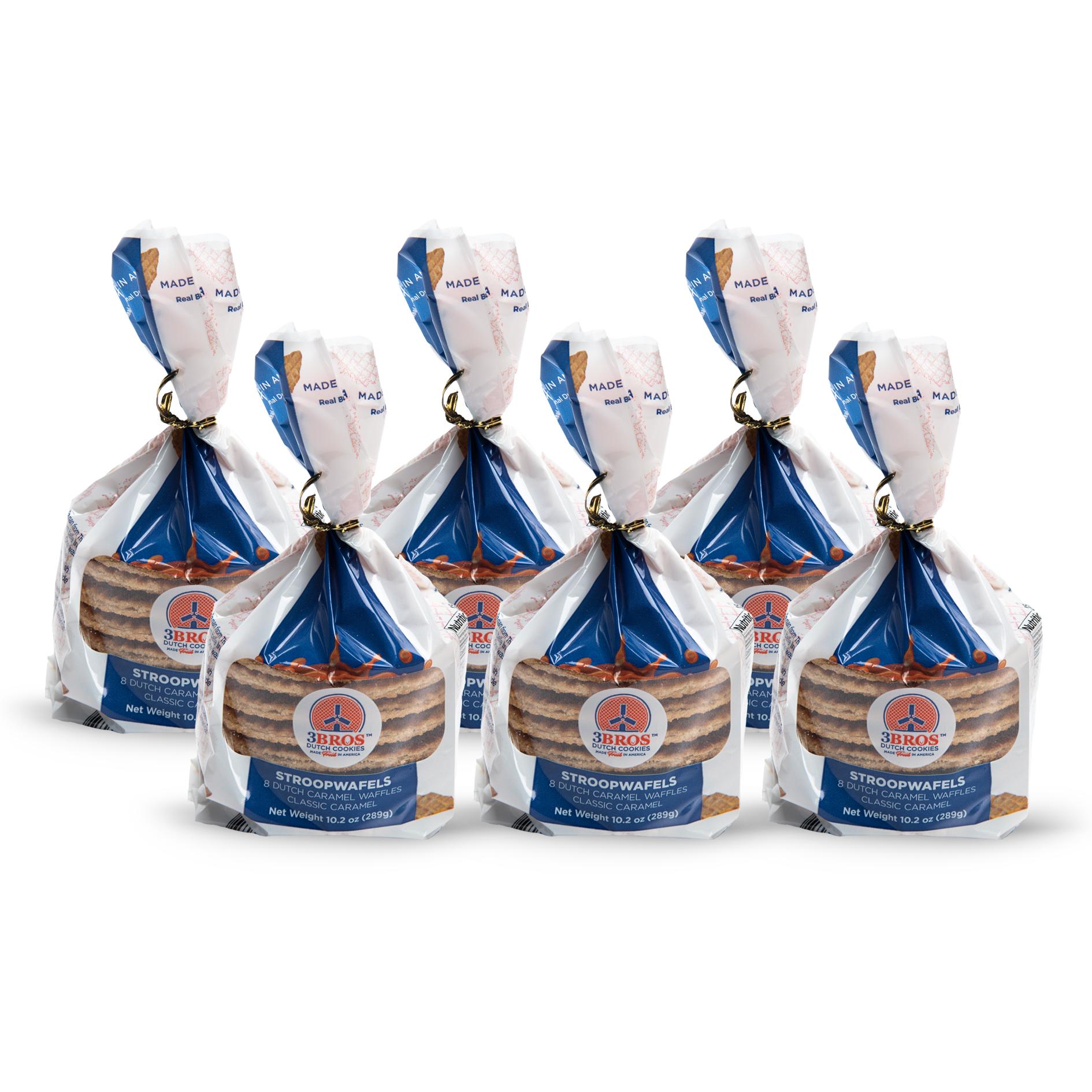 Case of 6 3Bros Stroopwafel 8-packs
